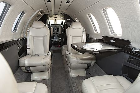 Interieur eines Business-Jets